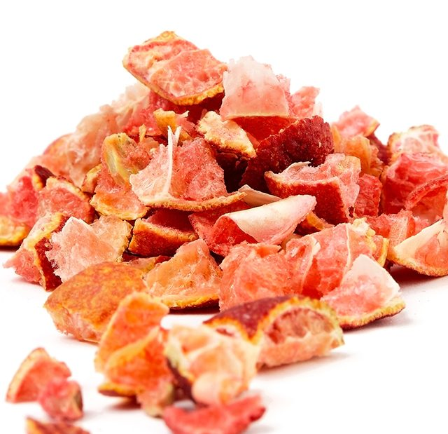 Freeze dried 10mm Red Centre Lime chips